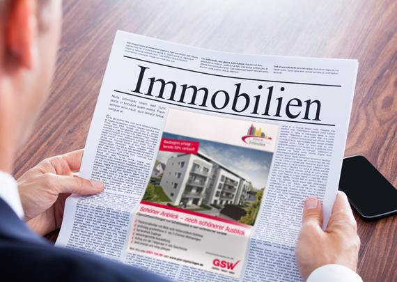 GSW Gesellschaft für Siedlungs- und Wohnungsbau Baden-Württemberg mbH Anzeige