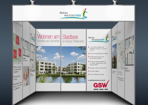 GSW Gesellschaft für Siedlungs- und Wohnungsbau Baden-Württemberg mbH Messestand
