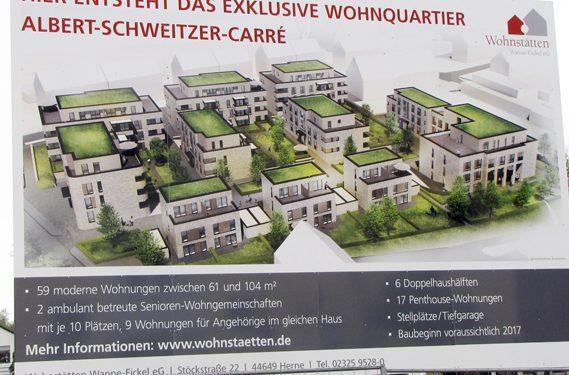 Wohnstätten Wanne-Eickel eG Bauschild