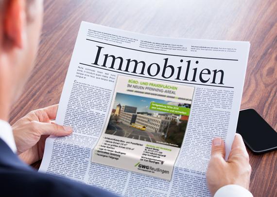 GWG Wohnungsgesellschaft Reutlingen mbH Anzeige