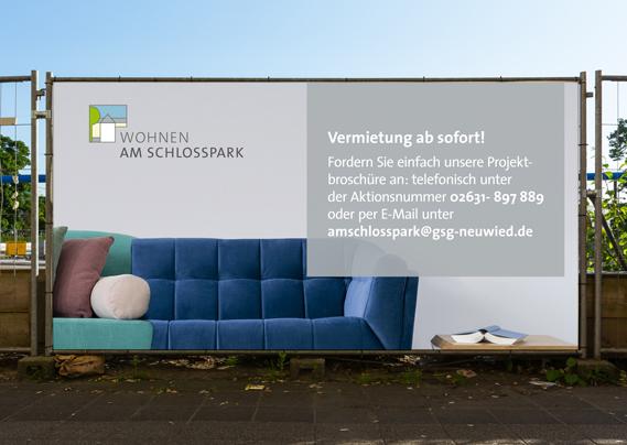 Gemeindliche Siedlungs-Gesellschaft Neuwied mbH Am Schlosspark Banner