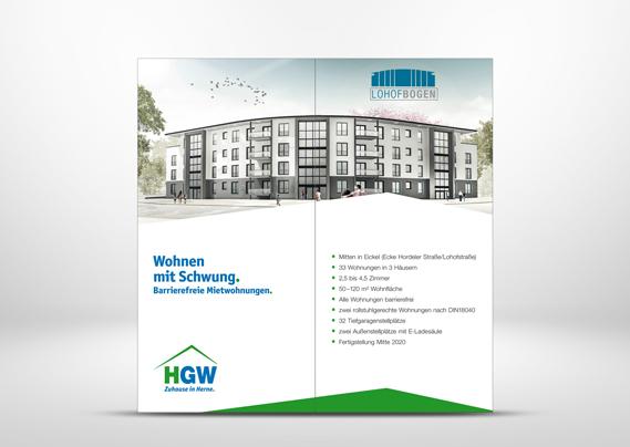 Herner Gesellschaft für Wohnungsbau mbH - Wohnungen in Herne Lohofbogen Roll-up