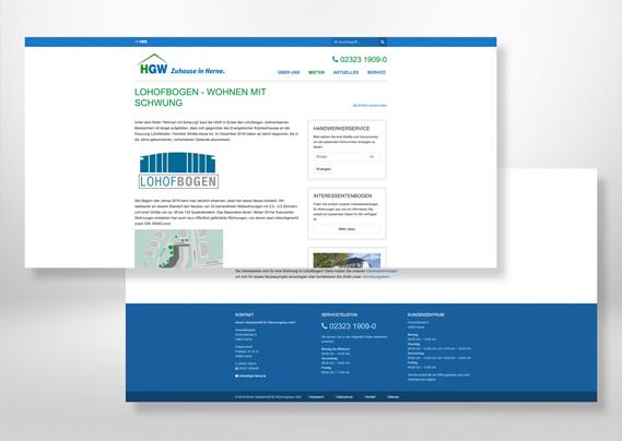 Herner Gesellschaft für Wohnungsbau mbH - Wohnungen in Herne Lohofbogen Web
