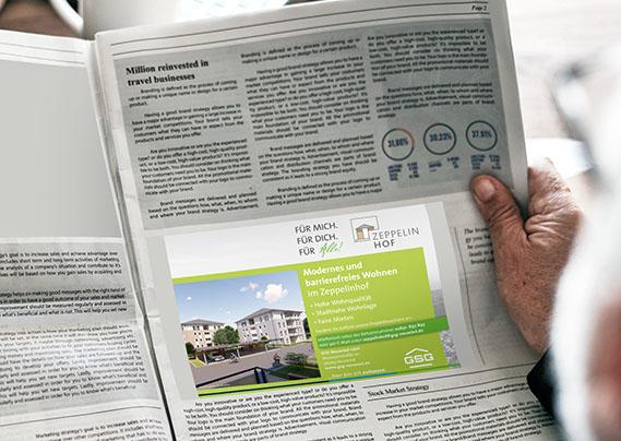 GSG Neuwied Zeppelinhof Zeitungsanzeige